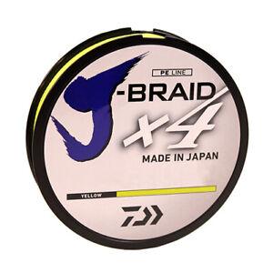 Daiwa JBraid x4 Line 150yd Filler Spool 8lb Test Fluorescent Yellow JB4U8-150FY
