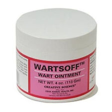 Wartsoff Ointment 4 oz Remove External Warts Cattle Goats Horse Dogs Pain