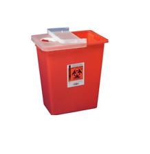 Sharps Container 8 Gallon Red Hinged Lid Multi Purpose Sharp Disposal Free Samph