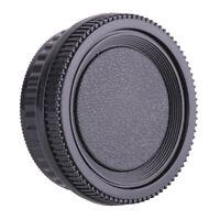 Rear Lens Cover +Camera Body Front Cap for Pentax K PK Pentax PK K20D K10D K2