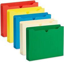 Blue Summit Supplies 2 Inch File Jackets, Reinforced Straight Cut Tab,