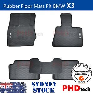 Premium Quality All Weather Rubber Car Floor Mats Fit BMW X3 F25 2011 - 2017