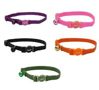 Safe Cat Adj Collar for Cats - 3/8 in x 8 - 12in All colors Breakaway Collar