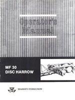 Massey Ferguson No 65 Rotary Cutter Operators Manual MF