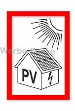 20 Aufkleber PV-Anlage , Photovoltaik 15 x 10,5 cm