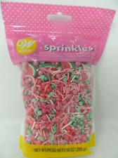 WILTON Decorating Sprinkles WATERMELON-SHAPED SPRINKLE MIX 10 oz. Resealable