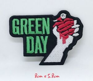 Punk heavy metal music Green Day Iron Sew on Embroidered Patch #1198