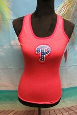 Women's Majestic Threads Phillies Tank Top with Swarovski Crystals Size M NWT