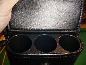 BEAUTIFUL IMITATION LEATHER  3X5 CUE CASE pool billiards carlscues 7-3269