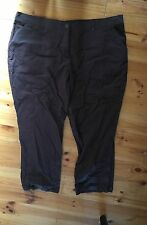 Autograph Brown Chequered Cargo Style Casual Pants Size 24