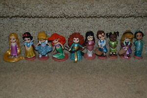 Disney Animators Collection Princess Figurine Lot of 10 Figures Cake Toppers PVC