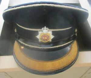 Royal Corps of Transport officer's cap and Sam Brown in box