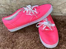 VANS Womens Neon Hot Pink Canvas Skateboard Shoes Womens Size 8.5 - Men's 7