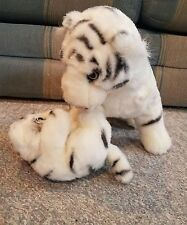 "Ringling Bros CIRCUS WHITE TIGER and BABY CUB Plush Stuffed Animal 13"" tall"