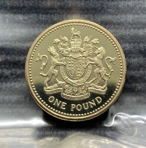 1983 Royal Coat of Arms PROOF £1 pound coin Royal Mint