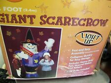 8' GIANT INFLATABLE LIGHTED  SCARECROW HAPPY HARVEST THANKSGIVING