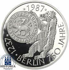 BRD 10 DM Silber 1987 - 750 Jahre Berlin Spiegelglanz Münze in Münzkapsel