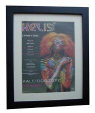 KELIS+Kaleidoscope+POSTER+AD+RARE ORIGINAL 2001+QUALITY FRAMED+FAST GLOBAL SHIP