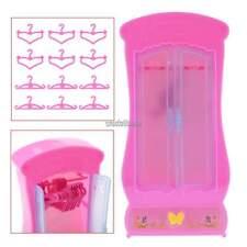 Kleiderschrank + 12 stück Kleiderbügel für Barbie-puppe Prinzessin Möbel WST