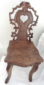 Antique Black Forest Musical childs Chair