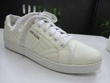PRADA Damen Schuhe Sneaker Leder Weiß Creme Italy Gr.38 TOP
