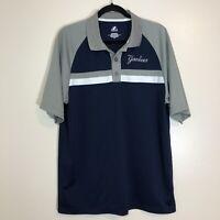 Majestic New York Yankees Men's Blue /Gray Short Sleeve Polo Golf Shirt Large