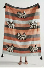 New Anthropologie Richmond Throw Blanket Animal Stripe MSRP $148