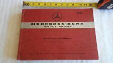 Mercedes Benz Type 300 SL Roadster Spare Parts List Edition C