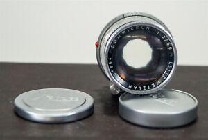 Vintage 1959 Leica Leitz Wetzlar Summicron-M 50mm f2 Rigid Lens s/n 170586