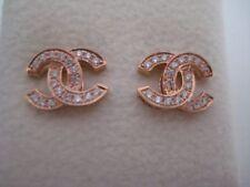 Pendientes de joyería con diamantes naturales de oro rosa Diamante