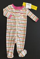 NWT Gymboree Stripe Snowman Footy Sleeper Gymmies Pajamas 0-3 Months