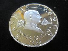 Uganda, 30 shillings, 1969, kampala, el papa pablo vi July 1969, 60 talla AG (999), pp