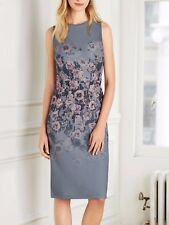 Next Mesh Panelled Grey Floral Bodycon Dress 14Tall