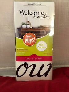 "Welcome To Our Home Peel-Stick-Move Wall Decor Words 32""X10"" -NEW-Made In USA"