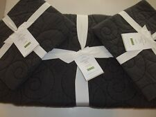 Pottery Barn Washed Cotton Quilt Full Queen & 2 Standard Shams Shale Gray #356