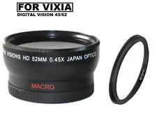 0.45x Digital Vision Wide Angle Lens for Canon Vixia HF R800, HF R82, HF R8