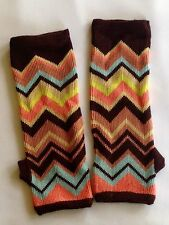 Missoni for Target Fingerless Gloves Arm Warmers Chevron Zig Zag Colore Rare