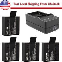 3.7V 900mAh Spare Battery or Dual Charger For SJCAM SJ4000 SJ5000 Sports Camera