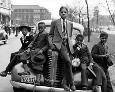 NEGRO BOYS EASTER MORNING IN CHICAGO 1941 8x10 SILVER HALIDE PHOTO PRINT