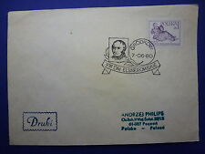 LOT 12567 TIMBRES STAMP ENVELOPPE MUSIQUE POLOGNE ANNEE 1980