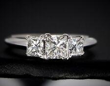 $7,500 14K White Gold Three Stone Princess Diamond 1.63ct Engagement Ring Band 7