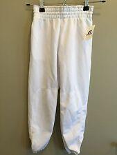 Base ball Baseball Pants Youth Boys White Medium Polyester Pullup NEW