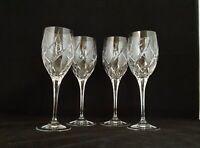 "Mikasa Crystal ENGLISH GARDEN Cut Glass 9"" Water Goblets (4)"