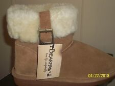Bearpaw Womens Boots Slippers Brown Sheepskin Lined Size US 7 EU 38