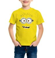 Despicable me Minions Face Funny Boys, Kids Quality T-shirt Short Sleeve Top