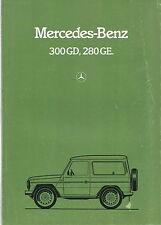 MERCEDES Benz G-VOLKSWAGEN ORIGINALE UK PIEGHEVOLE BROCHURE 280GE 300GD 1982 NO. WAM6701