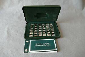 Franklin Mint 36 berühmte AUTOMOBILE auf Miniatur-SILBERbarren