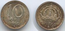 G15610 - Schweden 10 Öre 1950 TS KM#813 Silber XF Gustaf V.1907-50 Sweden