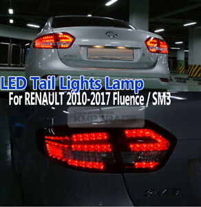 LED Trunk Tail Light Lamps Rear Lamps for RENAULT 2010-2017 Fluence SM3