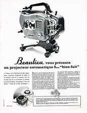 PUBLICITE ADVERTISING 044  1963  BEAULIEU   projecteur automatique 8mm